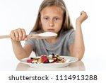 sad 8 year old female child...   Shutterstock . vector #1114913288