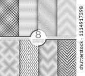 set of vector seamless patterns.... | Shutterstock .eps vector #1114917398