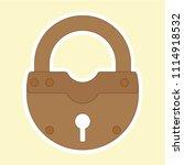 lock icon  vector rusty retro... | Shutterstock .eps vector #1114918532