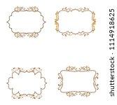 vintage border frame ornament...   Shutterstock .eps vector #1114918625
