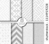 set of vector seamless patterns.... | Shutterstock .eps vector #1114919228
