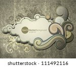 retro styled paper cloud vector ... | Shutterstock .eps vector #111492116