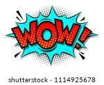 comic speech bubble with... | Shutterstock .eps vector #1114925678
