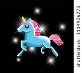 cute magic unicorn. romantic... | Shutterstock .eps vector #1114926275
