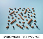 natural spices and chocolate on ... | Shutterstock . vector #1114929758