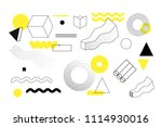 universal trend halftone... | Shutterstock .eps vector #1114930016