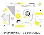 universal trend halftone... | Shutterstock .eps vector #1114930022