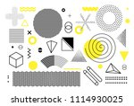 universal trend halftone... | Shutterstock .eps vector #1114930025