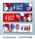 independence day usa sale... | Shutterstock .eps vector #1114933388