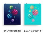 abstract vector background. set ... | Shutterstock .eps vector #1114934045