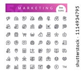 set of 56 marketing line icons... | Shutterstock .eps vector #1114934795