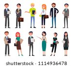businesspeople in elegant... | Shutterstock .eps vector #1114936478