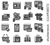 shopping and e commerce vector... | Shutterstock .eps vector #1114938572