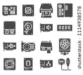 vector computer hardware icons. ... | Shutterstock .eps vector #1114938578
