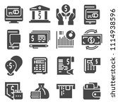 vector set of money icons.... | Shutterstock .eps vector #1114938596