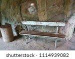 vintage wooden bench on...   Shutterstock . vector #1114939082