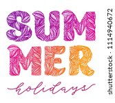 summer holidays. vector... | Shutterstock .eps vector #1114940672