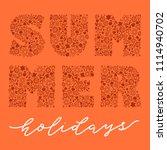 vector calligraphy lettering... | Shutterstock .eps vector #1114940702