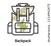 backpack icon vector isolated...   Shutterstock .eps vector #1114942475