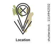 location icon vector isolated...