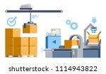 automatic machine parcel... | Shutterstock .eps vector #1114943822