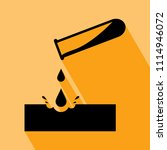 warning acid icon. test tube... | Shutterstock .eps vector #1114946072