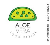 aloe vera logo design  green...   Shutterstock .eps vector #1114948235