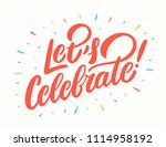 let's celebrate banner. vector... | Shutterstock .eps vector #1114958192