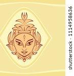 durga goddess of power  divine...   Shutterstock .eps vector #1114958636