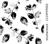 black and white abstract leaves ... | Shutterstock .eps vector #1114959002