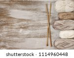 muted colored natural cotton... | Shutterstock . vector #1114960448