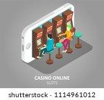 casino online mobile slots... | Shutterstock .eps vector #1114961012