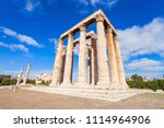 the temple of olympian zeus or... | Shutterstock . vector #1114964906