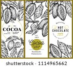 cocoa bean tree banner template ... | Shutterstock .eps vector #1114965662