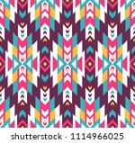 tribal seamless colorful... | Shutterstock .eps vector #1114966025