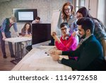 group of young perspective... | Shutterstock . vector #1114972658
