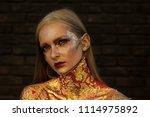 creative bodyart. fashion woman ...   Shutterstock . vector #1114975892