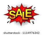 comic speech bubble with... | Shutterstock .eps vector #1114976342