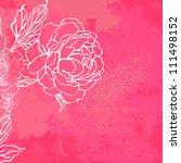 beautiful peony bouquet design... | Shutterstock .eps vector #111498152