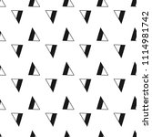 triangles. black and white... | Shutterstock .eps vector #1114981742