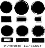 grunge post stamps collection ... | Shutterstock .eps vector #1114982015