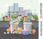 garbage container vector... | Shutterstock .eps vector #1114987208