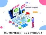 analysis  statistics  online... | Shutterstock .eps vector #1114988075