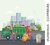 garbage container vector...   Shutterstock .eps vector #1114988186