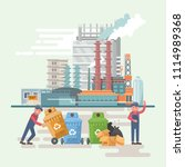 garbage container vector...   Shutterstock .eps vector #1114989368