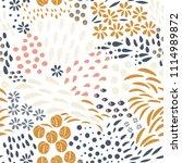 vector organic seamless... | Shutterstock .eps vector #1114989872