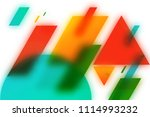 abstract blurred geometric... | Shutterstock . vector #1114993232