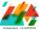abstract blurred geometric... | Shutterstock . vector #1114993235