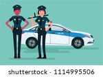 woman police officers.... | Shutterstock .eps vector #1114995506