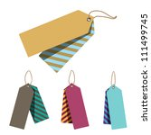 doubled price tags | Shutterstock .eps vector #111499745
